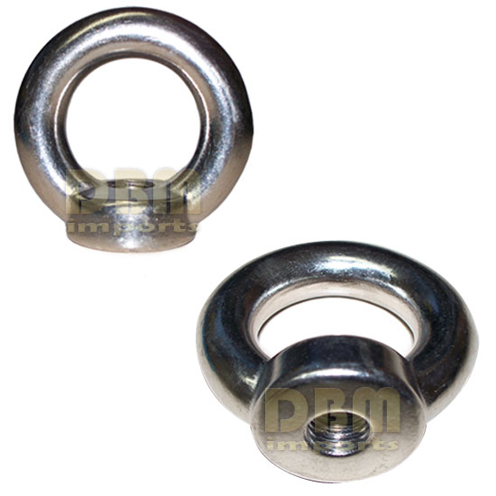 24-mm Din 582 EYE NUT Metric Thread Stainless Steel Marine 3600-lbs