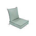 24 x 24 x 5 Pastel Green Love Sofa Deep Seat Cushion S1  Back Rest Pillow Outdoor Polyester Water Repellent