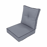 24 x 24 x 5 Light Grey Love Sofa Deep Seat Cushion S3 Back Rest Pillow Outdoor Polyester Water Repellent