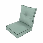 24 x 24 x 5 Pastel Green Love Sofa Deep Seat Cushion S3 Back Rest Pillow Outdoor Polyester Water Repellent