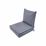 S1- AD001 Love Sofa Deep Seat Cushion 24 x 28 x 5 Back Rest Pillow Outdoor Polyester Water Repellent Light Grey