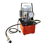 Electric Manual Air Pumper Single Acting Hydraulic Hand Pump 8L Oil Power 10,000 PSI 3.5L/min Average Flow