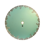 12''x .125'' x 1'' - 20mm Turbo Segmented Wet/Dry Saw Blade Cutting 10mm Rim