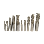 10 Pc 1/4'' - 3/4'' HSS 4 Flute 2 Flute End Mill Set Drilling Milling Shank Bits