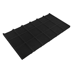 18 Square Black Velvet Jewelry Compartment Tray Storage Organizer Drawer Inserts Flat Box
