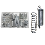 200 PCS Spring Assortment Compressed Extended Zinc Plated