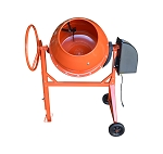 7 CU FT Electric Steel Stucco Concrete Cement Mixer 210L Construction Mortar Stone Mixing Machine 36RPM 2880r/min
