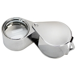 Chrome 21mm Lens 10x Magnification Diamond Loupe Loop Magnifier Glass Jewelers