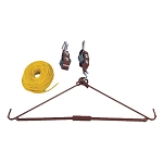 440lbs Gambrel and Pulley Hoist Deer, Elk, Game Up, Hoist Lift Combo