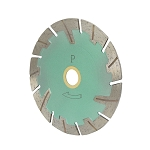 5'' x .085'' x 7/8''- 5/8'' Turbo Segmented Wet/Dry Cutting Saw Blade 10mm Rim