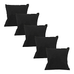5 Pc  4 x 4 Black Velvet Pillow Jewelry Bracelet Watch Display Showcase Box Collector Jewelry Case