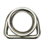 5/16'' Stainless Steel Marine Boat D ring Thimble Round Shave Wire Rope