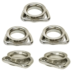 5 Pc Stainless Steel Marine Boat D Ring Swivel Link Round Thimble Rigging Wire Rope Cable Lifting Gear
