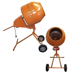 Tall 5 Cubic FT Portable Cement Concrete Mixer - NEW