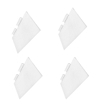 4 Pc Slatwall Shelves Shelf Shoe 12'' x 6'' Display Flat Styrene Clear Acrylic
