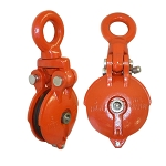 6 Ton SWIVEL EYE Snatch Block Wire Rope Hoist Rigging 6