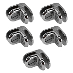 5 Pcs Chrome Metal 2 Way Glass Shelf Connector 3/16