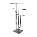 28-1/2''H 3 Tier Chrome Adjustable Jewelry Stand Retail Store Display Fixture