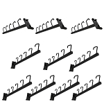 10 Pc GLOSS BLACK Waterfall 5 J Hook Gridwall Hooks 17-1/2'' Long Faceout Retail Display Wall Fixtures