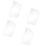 4 Pc Lucite Clear Acrylic T-Shirt Clothes 9-3/8'' x 13-1/2'' Folding Board