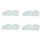 Slatwall Clear Acrylic Shoe Shelf 4'' x 10'' Sign Holding Slot - 4 Pc