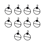 10 PCS Scarf Hanger Black Oval Plastic Scarf Tie Display Retail Shop Display