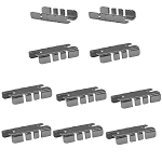 Set Of 10 Pcs Center Shelf Rest Clip For Brackets To Hang Glass Wood Or Metal Shelf
