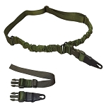 Molle Tactical ADDER Double Bungee One Point Sling Made In USA -  OD GREEN