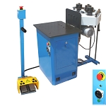 3 Phase 220V 1HP HV Ring Roller Pinch Roll Bender Bending Metal Steel Machine 1-1/4