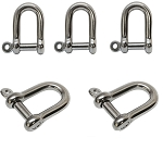 5 PC Stainless Steel 1/4