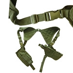 Cross Draw Shoulder Pistol Gun Holster - OD Green
