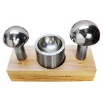 3 Pc Stainless Steel Cupola Punch Die Set Dapping Jewelrs Set Groove Punching