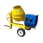 13 HP Towable 9 CF CUBIC CEMENT MIXER 12V Electric Gasoline  55 MPH