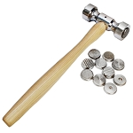 12 in 1 Interchangeable Heads Jeweler Hammer Jewelry Making Tool Texturing