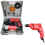 4-1/2'' Angle Grinder And 1/2'' Hammer Drill Kit Blade Cut off Kit
