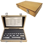 81 PC Steel Gage Gauge Block Rectangular GRADE B Harden Space Spacers GrB Cert.
