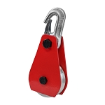 5/8'' Eye Hook 3'' Aluminum Sheave Block W/ hook Wire Rope Snatch Rig Rigging