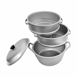 12'' Aluminum Steamer Cookware Small Holes Kitchen Perfect To Steam Vegetables, Meat, Fish, Dumplings, Buns, Vege