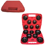 Set Of 14 PCS Oil Filter Wrench Socket CUP TYPE Style 3/8