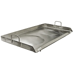 Portable Stainless Steel Double Stove Griddle CONVEX Plancha