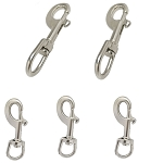 5 PC Stainless Steel 316 Swivel Eye Bolt Snap Hook Set 3/4'' x 90mm