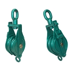 1.5 Ton Double SHEAVE Snatch Block Wire Rope Swivel EYE 5
