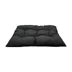 Square Indoor/ Outdoor Black Soft Replacement Cushion Pillow Pad Seat Cover Wicker Swing Chair 40