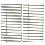 Set 50 PC 10'' 316 SS Hand Swage Long Thread End Fitting For 1/8'' Cable Railing Rail