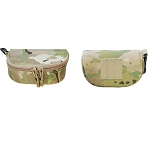 Molle Tactical SUNGLASSES Case Carrying Pouch Eyeglasses Padded Case - MULTICAM