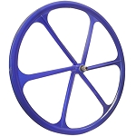 2 Teny FIXED GEAR RIM 700C x 25-38 Magnesium Alloy 6 Spoke Bicycle Bike - Blue
