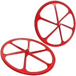 2 Teny FIXED GEAR RIM 700C x 25-38 Magnesium Alloy 6 Spoke Bicycle Bike - RED