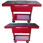 50'' Metal Steel Work Station Tray Cart Tool Storage Workstation 1 Drawer-RED