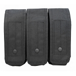 BLACK - MOLLE 7.62mm 5.56mm TRIPLE Mag Pouch Magazine Close Flap Pouch Pals