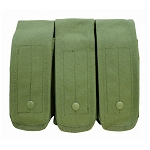 OD GREEN - MOLLE AK AR TRIPLE Rifle Mag Pouch Magazine Close Flap Pouch Pals